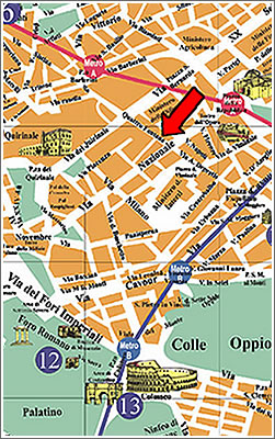 Zara Hotel Rome - Attractions Map